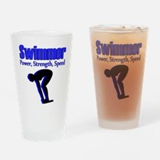 BORN TO SWIM Drinking Glass