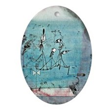 Paul Klee - Twittering Machine artwo Oval Ornament