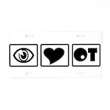 BOX EYE HEART OT Aluminum License Plate