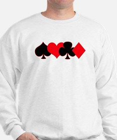Card Suits Sweatshirt