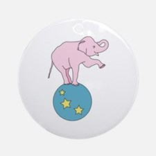 Circus Elephant Ornament (Round)