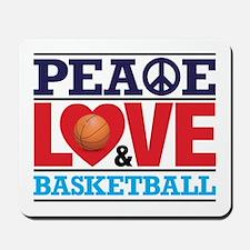 Peace Love and Basketball Mousepad