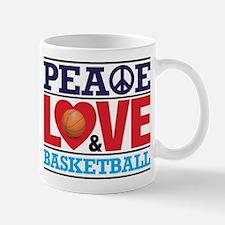Peace Love and Basketball Mugs