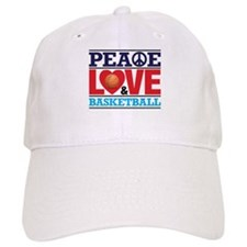 Peace Love and Basketball Baseball Baseball Cap