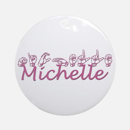 Michelle Ornament (Round)