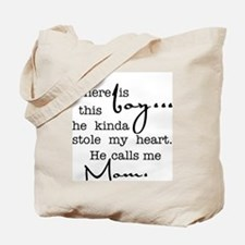 So There Is This Boy Who Stole My Heart Tote Bag