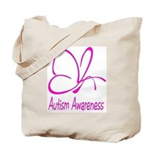 Autism Awareness Butterfly Pink Tote Bag