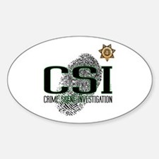 CSI Oval Decal