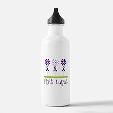 Lupus Awareness Daisy Water Bottle