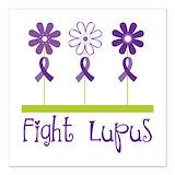 Lupus awareness Square Car Magnets