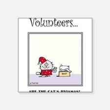 Volunteers Are The Cat's Pyjamas! Sticker