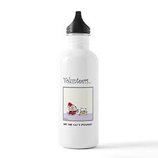 Volunteers Are The Cat's Pyjamas! Water Bottle
