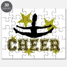 Cheerleader Gold and Black Puzzle