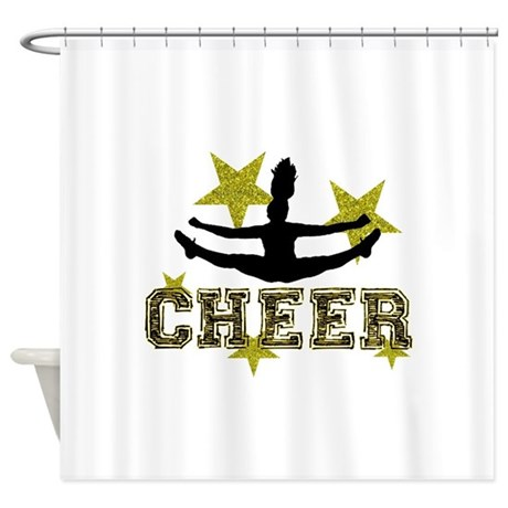 Cheerleader Gold And Black Shower Curtain By Designsbyalexh