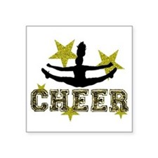 Cheerleader Gold and Black Sticker