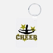 Cheerleader Gold and Black Keychains