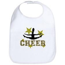 Cheerleader Gold and Black Bib