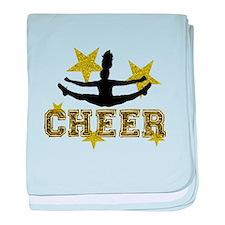 Cheerleader Gold and Black baby blanket