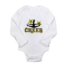 Cheerleader Gold and Black Body Suit