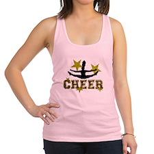Cheerleader Gold and Black Racerback Tank Top