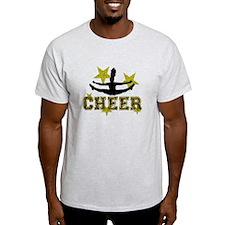 Cheerleader Gold and Black T-Shirt