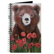 Bear In Poppies Journal