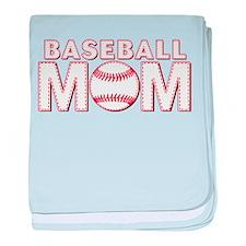 Baseball Mom baby blanket