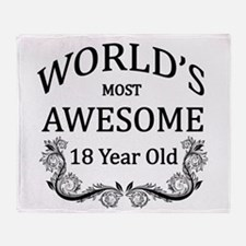 World's Most Awesome 18 Year Old Throw Blanket