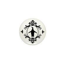 Ornate Penguin Mini Button
