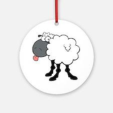 Sheepish  Round Ornament