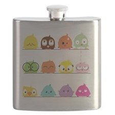 Playful Birdy Flask