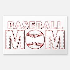 Baseball Mom Sticker (Rectangle)