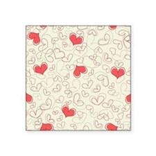 "Forever Hearts  Square Sticker 3"" x 3"""