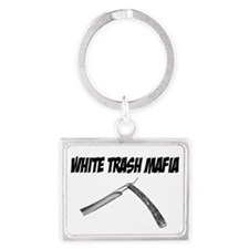White Trash Mafia Straight Razor Keychains