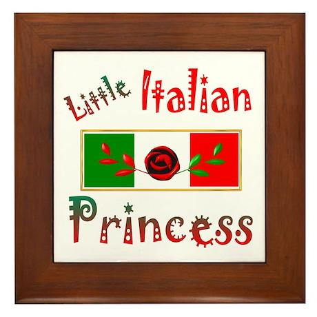 Italian Princess Framed Tile
