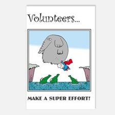 Volunteers Make A Super E Postcards (Package of 8)