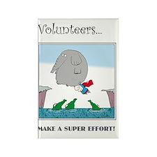 Volunteers Make A Super Effort! Rectangle Magnet