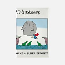 Volunteers Make A Super Effort! Rectangle Magnet