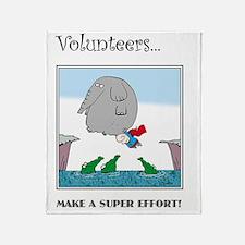 Volunteers Make A Super Effort! Throw Blanket