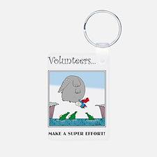 Volunteers Make A Super Ef Keychains