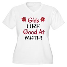 Girls ARE good at math! Plus Size T-Shirt