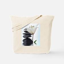 Zen River Rocks/Flower Tote Bag