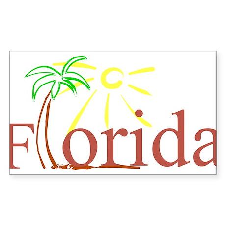 Florida Palm Rectangle Sticker