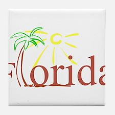 Florida Palm Tile Coaster
