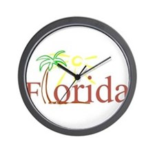 Florida Palm Wall Clock