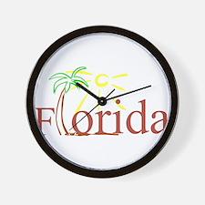 Florida Palm Wall Clock