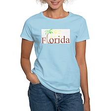 Florida Palm Women's Pink T-Shirt