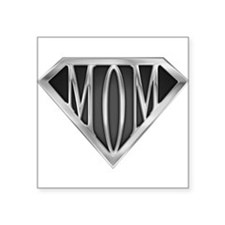 Supermom(metal) Rectangle Sticker