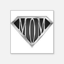 Supermom(metal) Rectangle Sticker