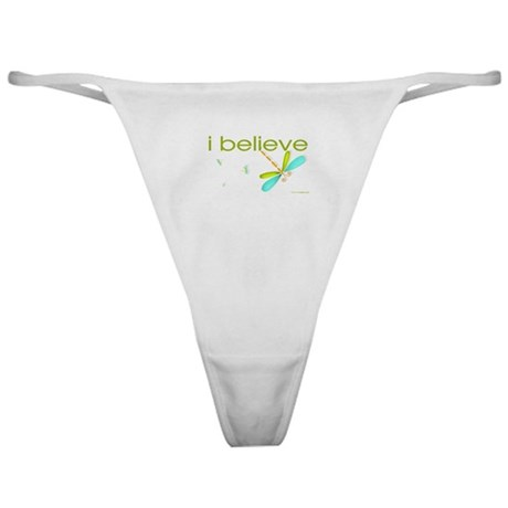 I believe in Dragonflies Classic Thong